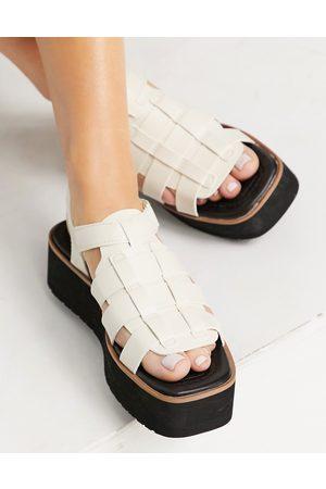 Stradivarius Women Sandals - Flatform multi strap sandal in
