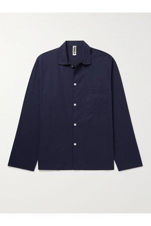 TEKLA Men Pyjamas - Camp-Collar Organic Cotton-Poplin Pyjama Shirt