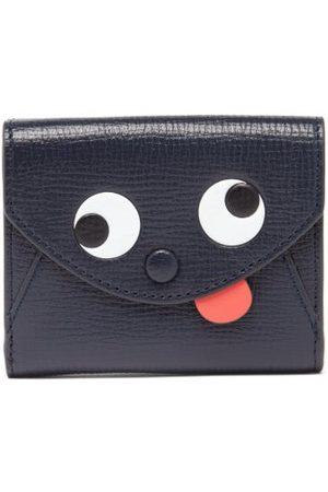 Anya Hindmarch Zany Mini Tri-fold Leather Wallet - Womens - Navy