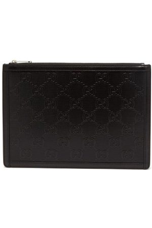 Gucci GG Tennis Leather Pouch - Mens