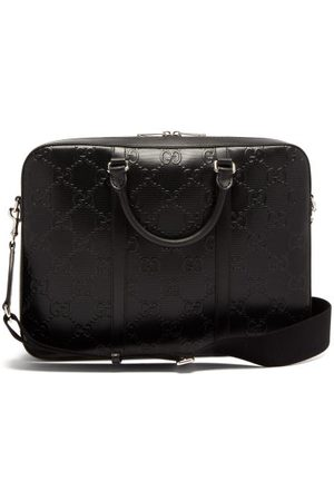 Gucci GG-embossed Leather Briefcase - Mens