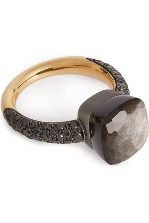 Pomellato Rose Gold, Obsidian and Diamond Nudo Ring