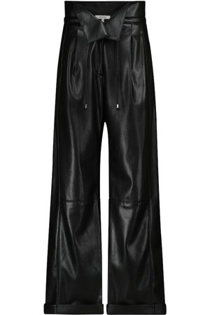 Dorothee Schumacher Sleek Performance faux leather paperbag pants