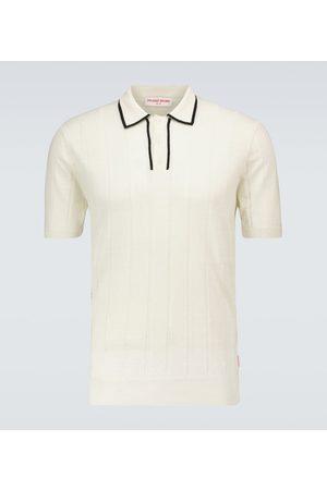 Orlebar Brown Price linen and wool polo shirt