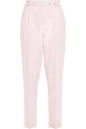 Serafini Woman Pleated Twill Tapered Pants Baby Size 40