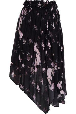 Preen Line Woman Sumin Asymmetric Floral-print Crepe Skirt Size M