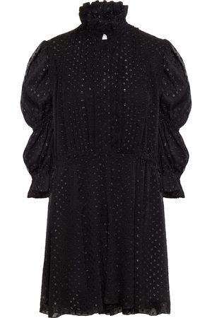 Serafini Woman Gathered Fil Coupé Georgette Mini Dress Size 40