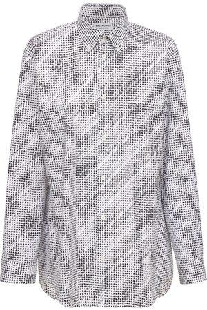 Balenciaga Archive Letters Cotton Poplin Shirt