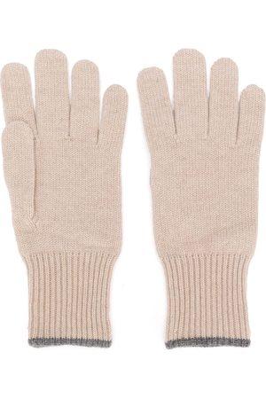 Brunello Cucinelli Men Gloves - Cashmere gloves - Neutrals