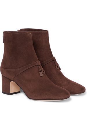 Loro Piana Women Ankle Boots - Maxi Charms suede ankle boots