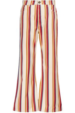 Paco rabanne Striped mid-rise flared jeans