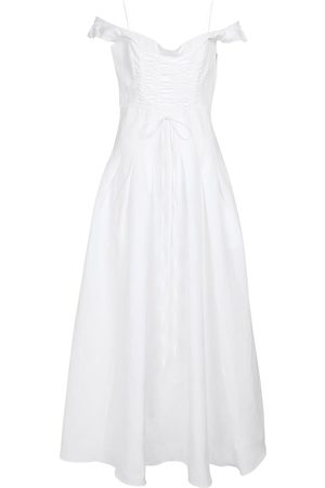 BROCK COLLECTION Cotton and linen-blend midi dress