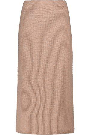 Loro Piana Gonna Davenport ribbed-knit midi skirt