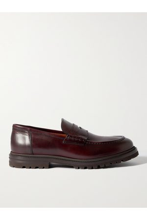 Brunello Cucinelli Men Loafers - Leather Penny Loafers
