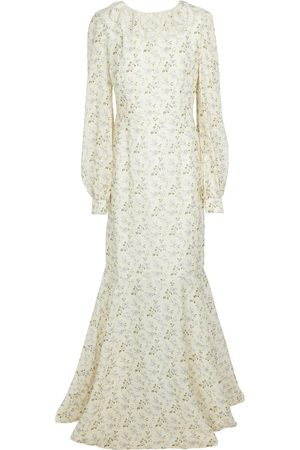 BROCK COLLECTION Floral linen and cotton maxi dress