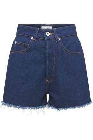 Paco rabanne Women Shorts - Cotton Denim Mini Shorts
