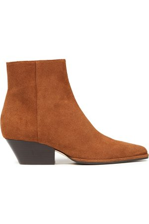 Sergio Rossi Woman Suede Ankle Boots Size 34
