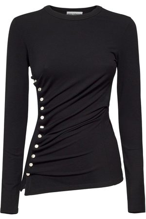 Paco rabanne Jersey Button Detail Top