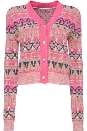 Paco rabanne Women Cardigans - Wool Knit Cropped Cardigan