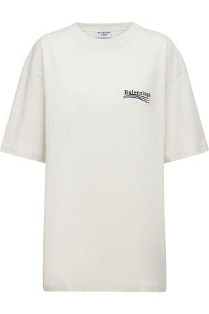 Balenciaga Logo Cotton Jersey T-shirt