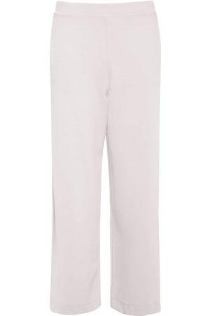 Max Mara Women Wide Leg Trousers - Stretch Jersey Cropped Wide Leg Pants