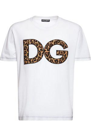 Dolce & Gabbana Dg Leopard Logo Cotton Jersey T-shirt