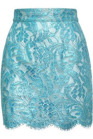 Dolce & Gabbana Laminated Lace Mini Skirt