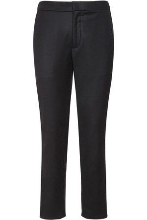 Loro Piana 17cm Flannel Wool & Cashmere Pants