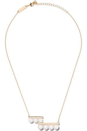Tasaki 18kt yellow Balance step pearl pendant