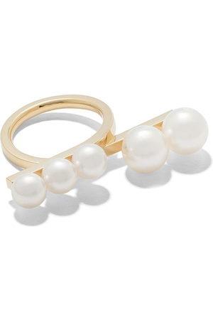 Tasaki Women Rings - 18kt yellow Balance loop pearl ring
