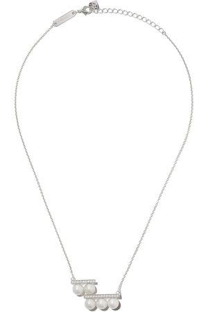 TASAKI 18kt white gold Balance step pearl and diamond pendant