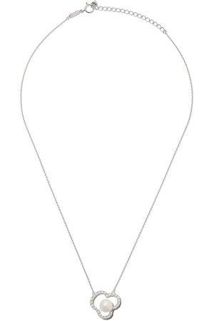 Tasaki Women Necklaces - 18kt white gold Chants diamond and Akoya pearl pendant