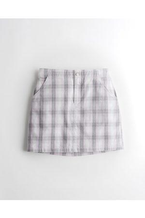 Hollister Women Mini Skirts - Ultra High-Rise Plaid Mini Skirt