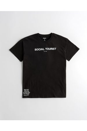 Hollister Social Tourist Oversized Graphic Tee
