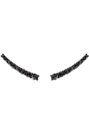 ALINKA Women Earrings - Dasha black diamond small slider earrings - Metallic