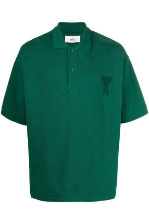 AMI Paris Men Polo Shirts - Ami de Coeur patch polo shirt