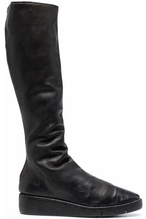GUIDI Platform knee boots