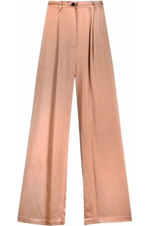 12 STOREEZ Women Wide Leg Trousers - Wide-leg palazzo trousers - Neutrals