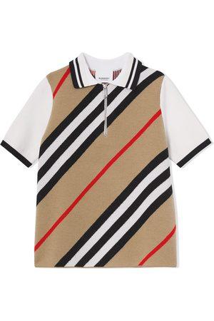 Burberry Kids Boys Polo Shirts - Icon stripe polo shirt