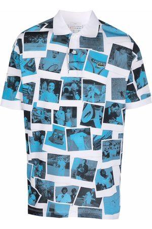 Lacoste Men Polo Shirts - X Polaroïd photograph-print polo shirt