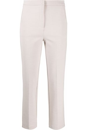 Patrizia Pepe Women Trousers - Stretch-fit cropped trousers - Neutrals