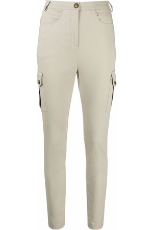 Patrizia Pepe Women Cargo Trousers - Cargo-pocket slim-fit trousers - Neutrals