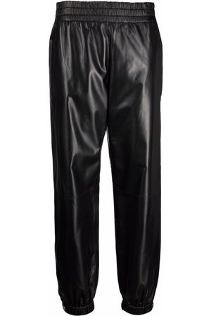 Alexander McQueen Elasticated leather trousers