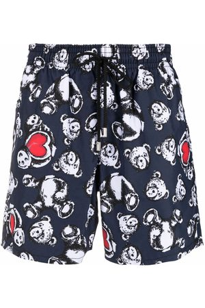 Palm Angels X Vilebrequin bear-print swim shorts