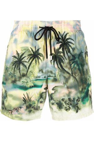 Palm Angels X Vilebrequin Jungle-print swim shorts