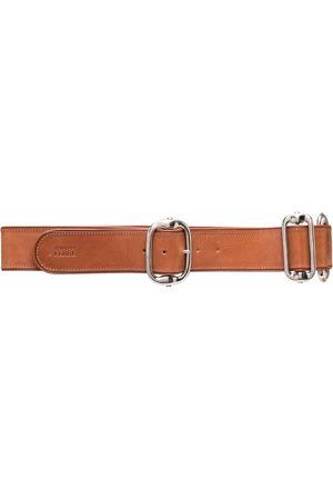 Gianfranco Ferré Women Belts - 2000s metal detailing leather belt