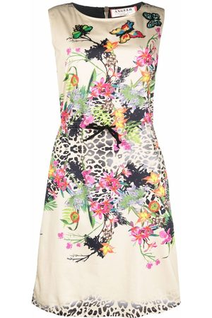 A.N.G.E.L.O. Vintage Cult 1990s floral-print drawstring-waist dress - Neutrals