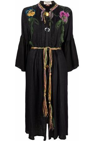 A.N.G.E.L.O. Vintage Cult Women Midi Dresses - 1990s embroidered flowers gathered midi dress