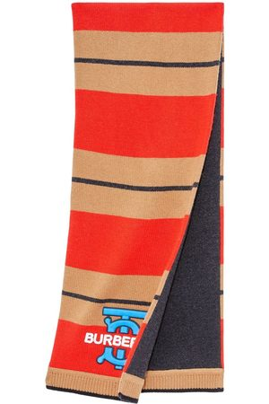 Burberry Striped wool-cashmere scarf