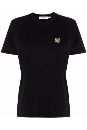 Maison Kitsuné Women Short Sleeve - Fox-appliqué cotton T-shirt